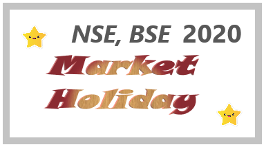 NSE BSE Market Holidays 2020