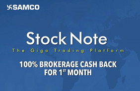 SAMCO 100 Percent Brokerage Cashback Offer