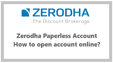 How to open online account with Zerodha
