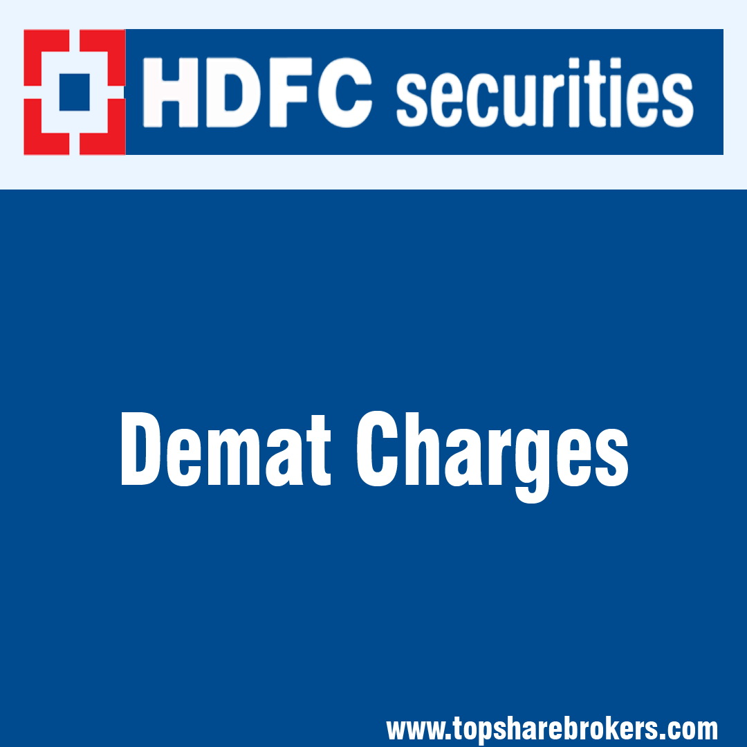 hdfc securities trading brokerage charges